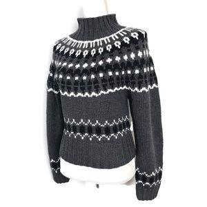 Moda international fair isle sweater Gray